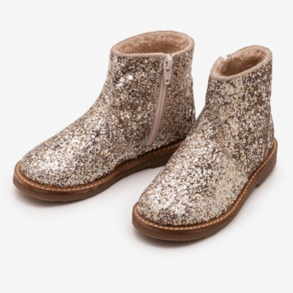 Mini Boden Shoes | Gold Glitter Boot